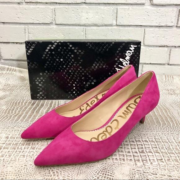 b057d8d5456d Sam Edelman Women s Dori Retro Pink Suede Heels
